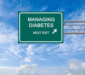 41935551 - road sign to diabetes management